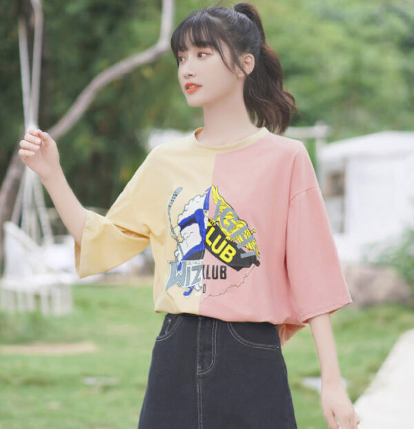 Yellow And Pink Joint T-Shirt