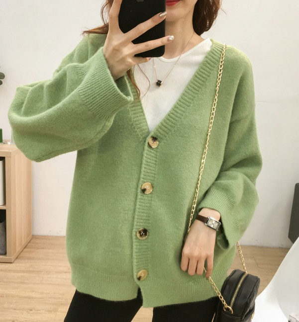 Green Knitted Cardigan   An Jeong‑Ha – Record Of Youth