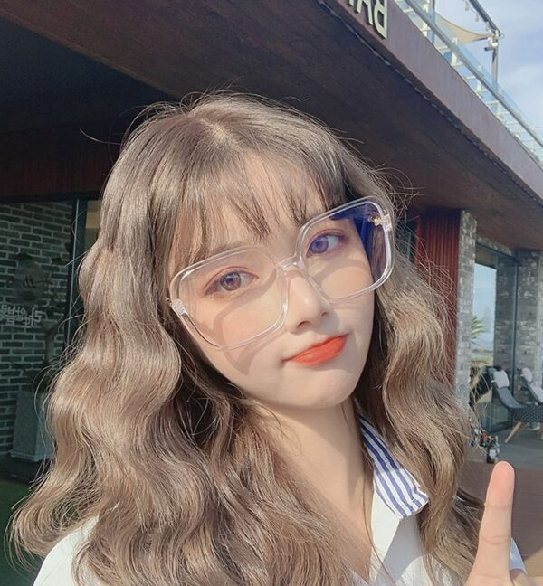 Transparent Big Framed Glasses   Chaeyoung – Twice