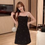 Black Sling Dress With Crystal Details | Ko Moon‑Young – It's Okay Not To Be Okay