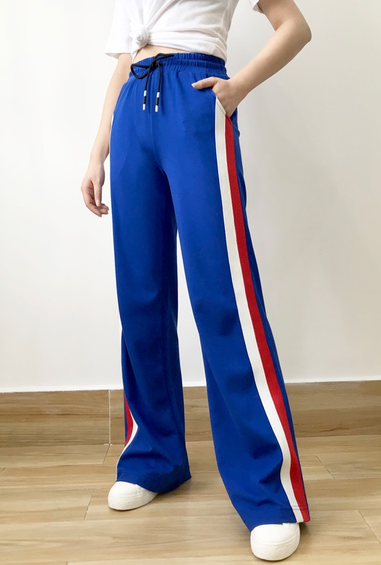 Blue Track Pants With Stripes | Sa Hye-Jun – Record Of Youth
