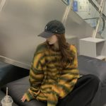 Gradient Color Striped Sweater | BamBam – GOT7