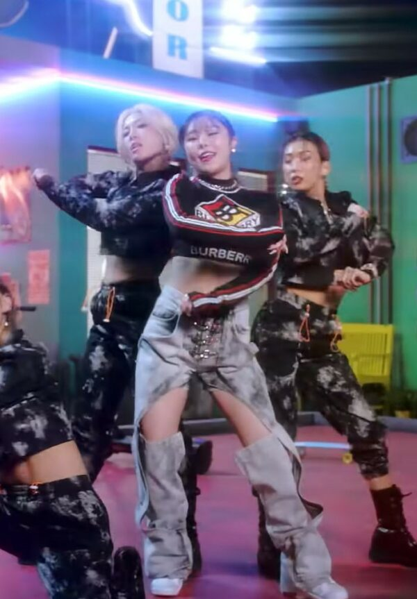 Inner Cut-out Ringed Denim Jeans   Hweein – Mamamoo