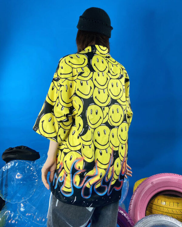 Smiley And Bottom Fire Shirt   J-Hope – BTS