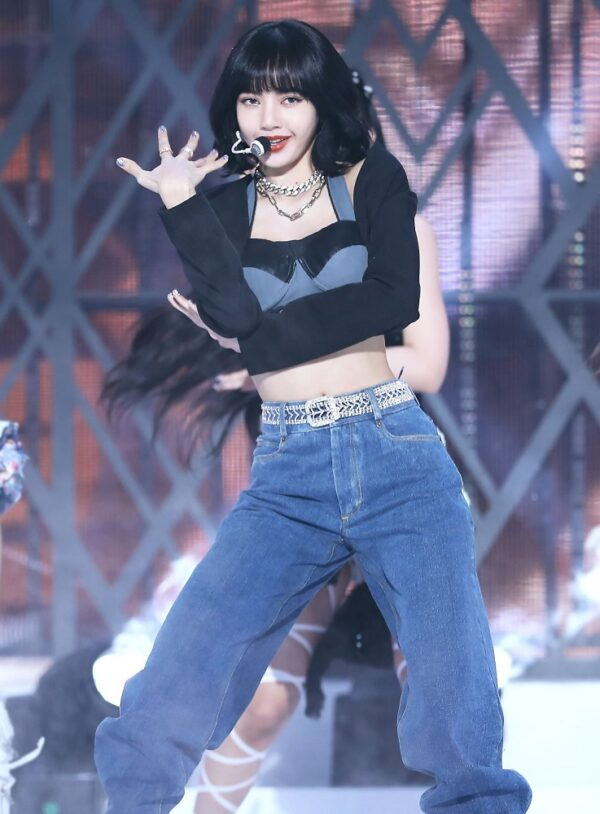 Two-Piece Bustier Cropped Top | Lisa – BlackPink