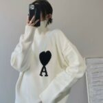 Ace Of Hearts White Knitted Turtleneck Sweater | Baekhyun – EXO