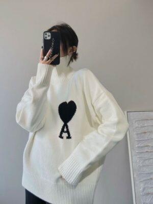 Baekhyun – Ace Of Hearts White Knitted Turtleneck Sweater (5)