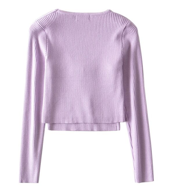 Lilac Cropped Top and Cardigan Set | Jennie – BlackPink