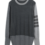 Knitted Colorblock Sweater With Line Bars | Jin – BTS