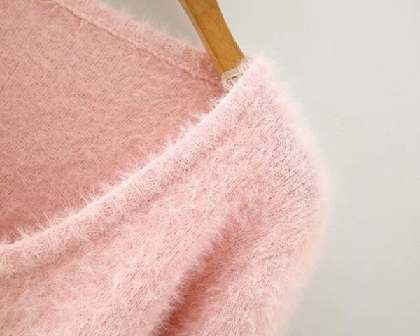 Pink Rose Button Mohair Cardigan | Miyeon – (G)I-DLE