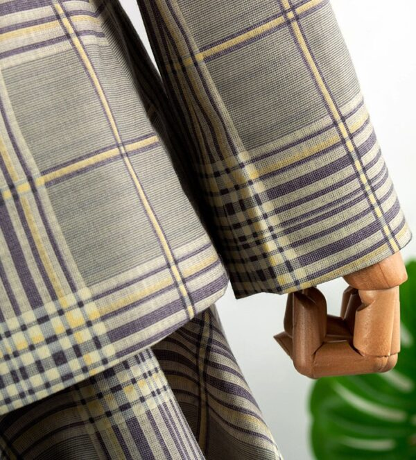 Plaid Patterned Suit Jacket With Belt | Oh Soo Ah – Itaewon Class