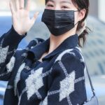 Black Collared Knit Sweater With Argyle Pattern   Soojin – (G)I-DLE