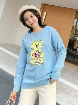 Chanyeol – EXO Teddy Bear Knitted Pullover (6)