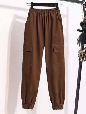 Key – SHINee Brown Cargo Pants With Pockets (12)