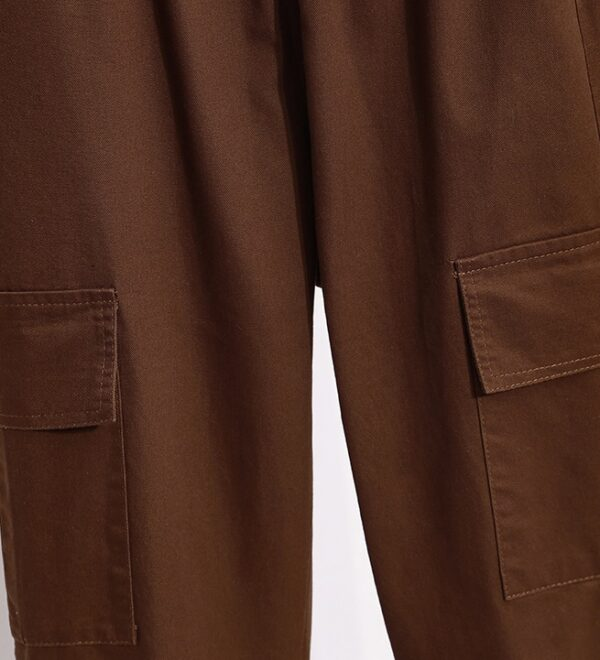 Brown Cargo Pants With Pockets | Key – SHINee