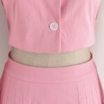 Pink Puff Sleeve Top And Long Skirt Suit  | Ko Moon Young – It's Okay Not To Be Okay