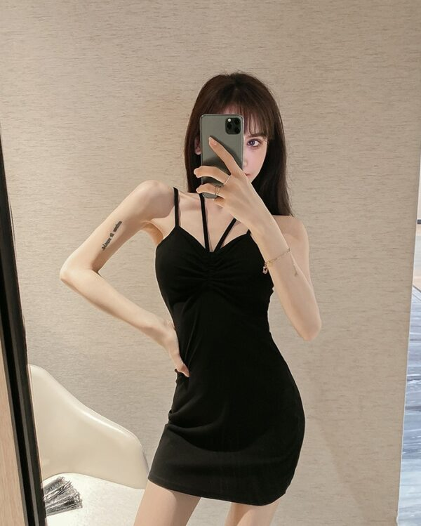 Black Fitted Sleeveless Dress | Miyeon – (G)I-DLE