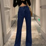 Navy Blue Jeans With Front Pockets | Moonbyul – Mamamoo