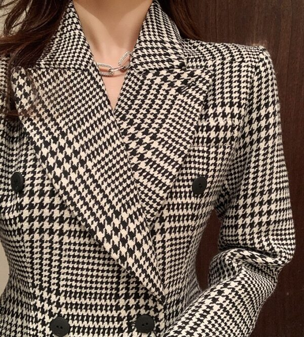 Double Breasted Houndstooth Suit Jacket   Rose – BlackPink