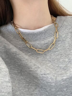 Rose – BlackPink Gold Chain Necklace (8)