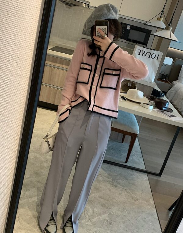 Candy Pink Knitted Cardigan | Jennie – BlackPink