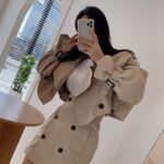 Beige Cropped Coat   Miyeon – (G)I-DLE