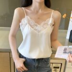 White Lace-Trimmed Camisole | Rose – BlackPink