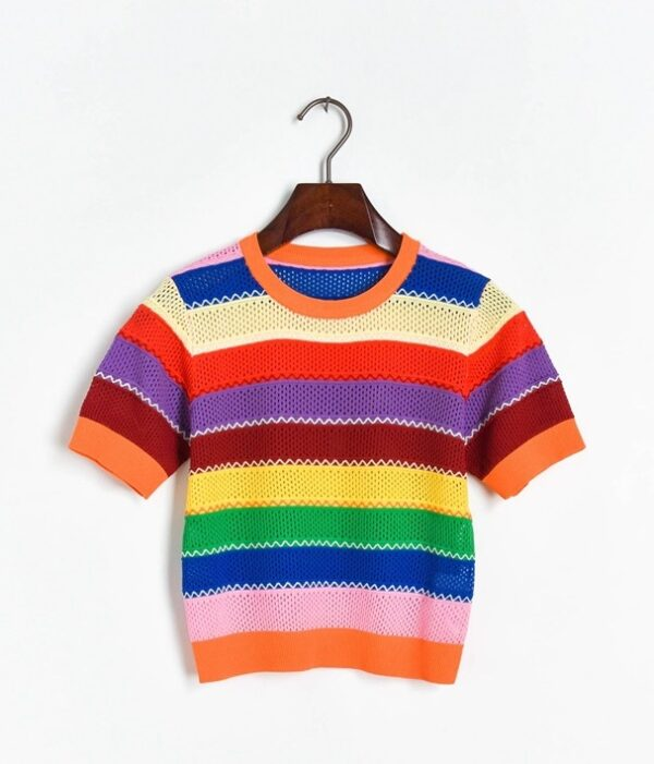Rainbow Hollow Out T-Shirt   Wendy – Red Velvet