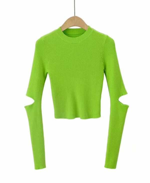 Neon Green Top With Cut-Out Sleeves | Yuna – ITZY