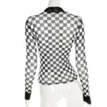 Checkered See-Through Crop Top | Chaeryeong – ITZY