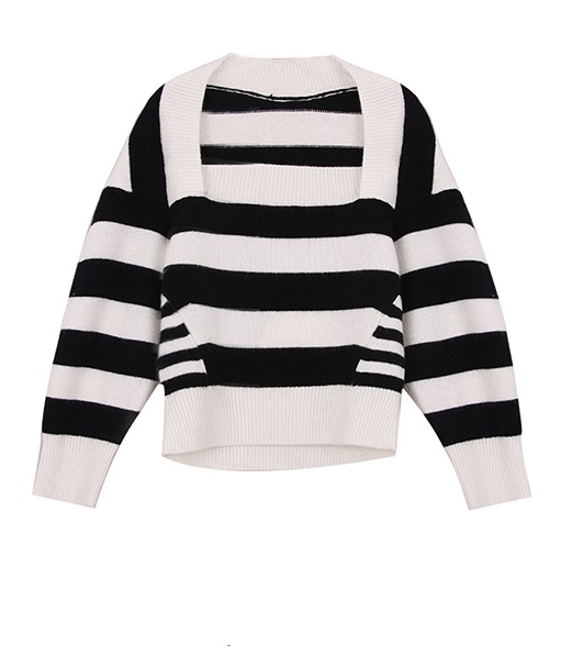 Square Collar Striped Sweater | Doyoung – NCT
