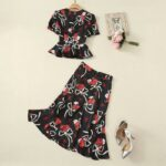 Floral Top And Skirt Set | Jeongyeon – Twice