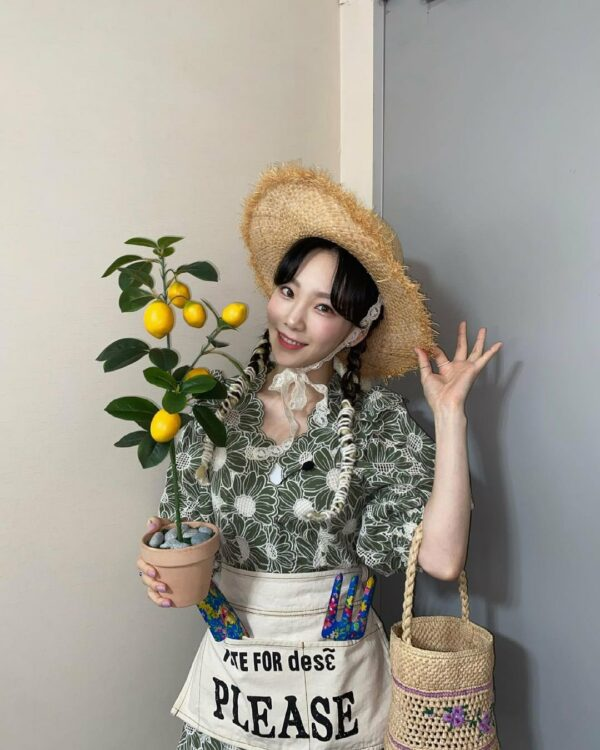 Green Embroidered Floral Dress | Taeyeon – Girls Generation