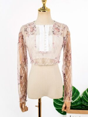 IU Floral Patterned Lace Top (23)