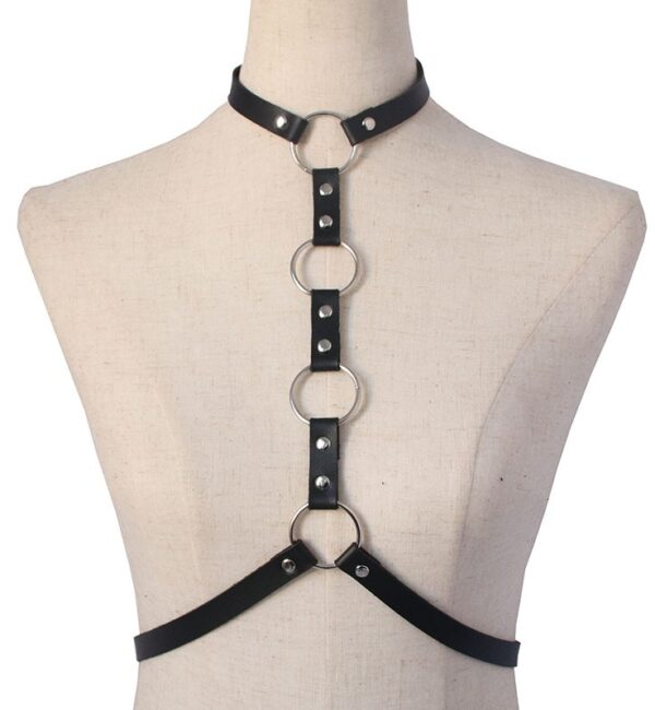 Halter Style Black Harness With Rings | Momo – Twice