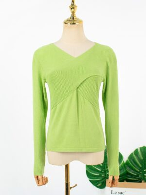 Joo Seok Kyung – Penthouse Green Crossed Front Sweater (6)