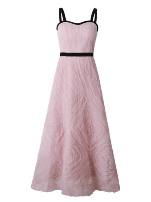 Pink Embellished Tulle Gown Dahyun – Twice 4