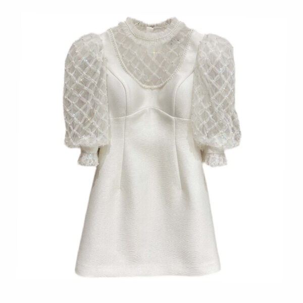 White Beaded Lace Dress | Chaeryeong – ITZY