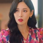 Floral Puff Sleeve V-Neck Dress | Cheon Seo Jin – Penthouse
