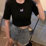 Butterfly Cropped T-Shirt   Giselle – Aespa