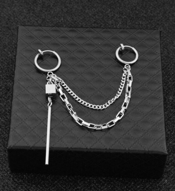 Double Clip-On Chain Earring   J-Hope – BTS