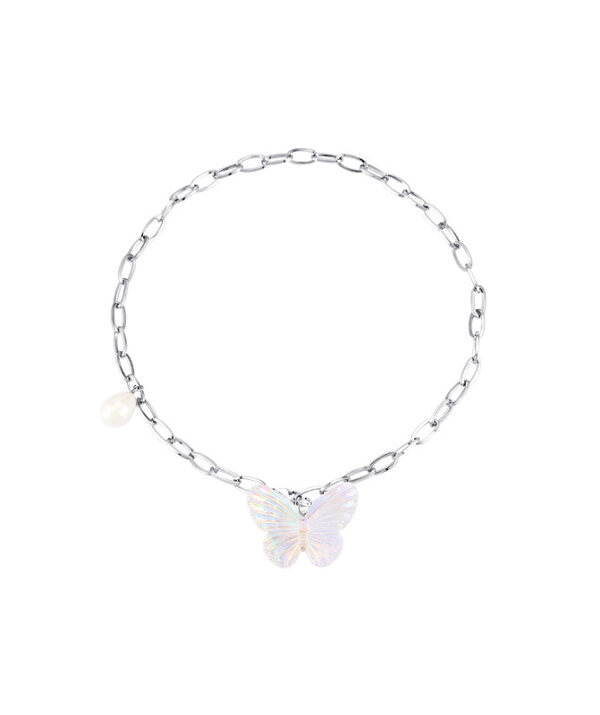 Opal Butterfly Chain Necklace   Rose – BlackPink
