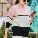 Tricolor Knitted Sweater | Solar – Mamamoo