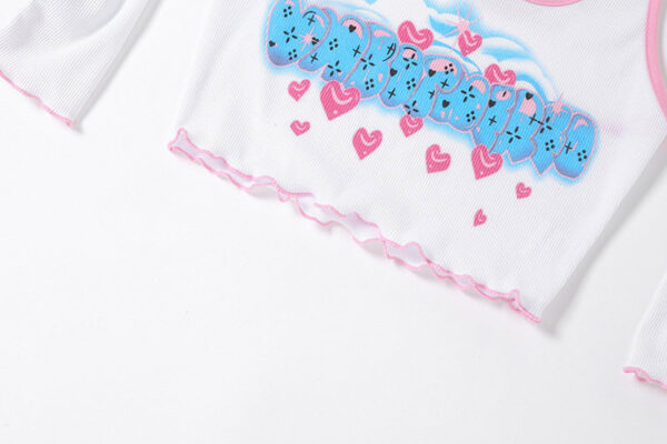 Heart And Letter Print Halter Top With Arm Sleeves | Soyeon – (G)I-DLE