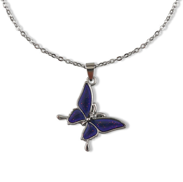 Temperature Butterfly Necklace | Rose – BlackPink