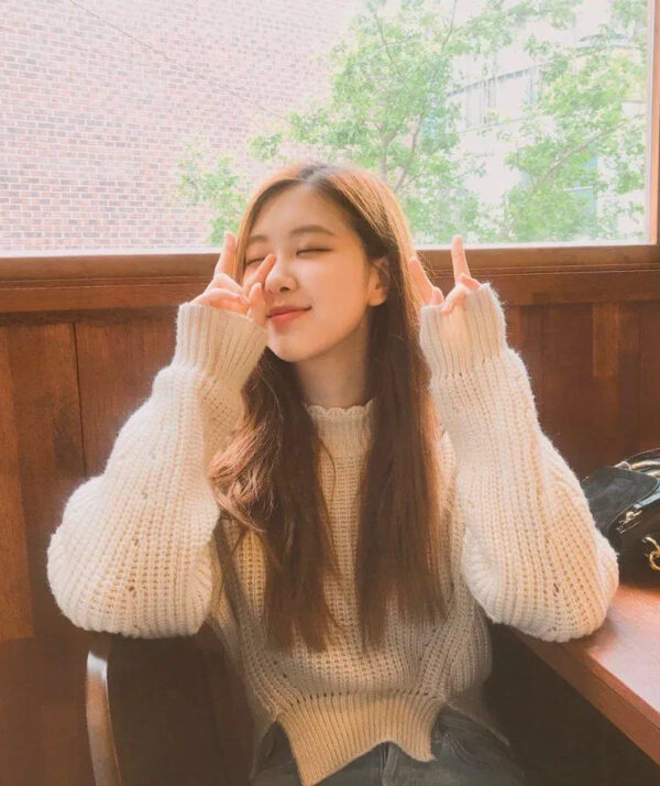 White Knitted Crop Sweater   Rose – BlackPink