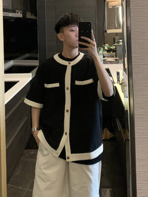 Black And White Outer Shirt DK – Seventeen 04