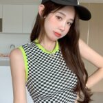 Black And White Checkered Top   Lisa – BlackPink