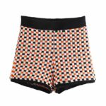 Knitted Checkered Shorts   Rose – BlackPink