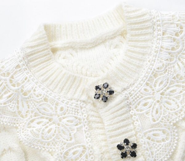 Lace Collar Knitted Cardigan | Rose – BlackPink